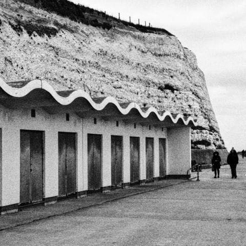 Beach huts near Ovingdean Beach.