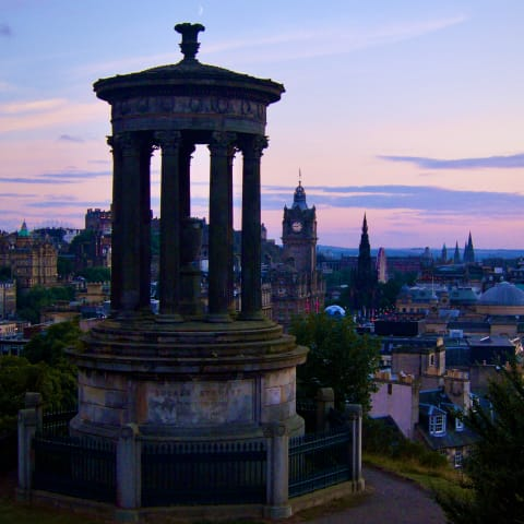 View of Ediburgh from Calton Hill.