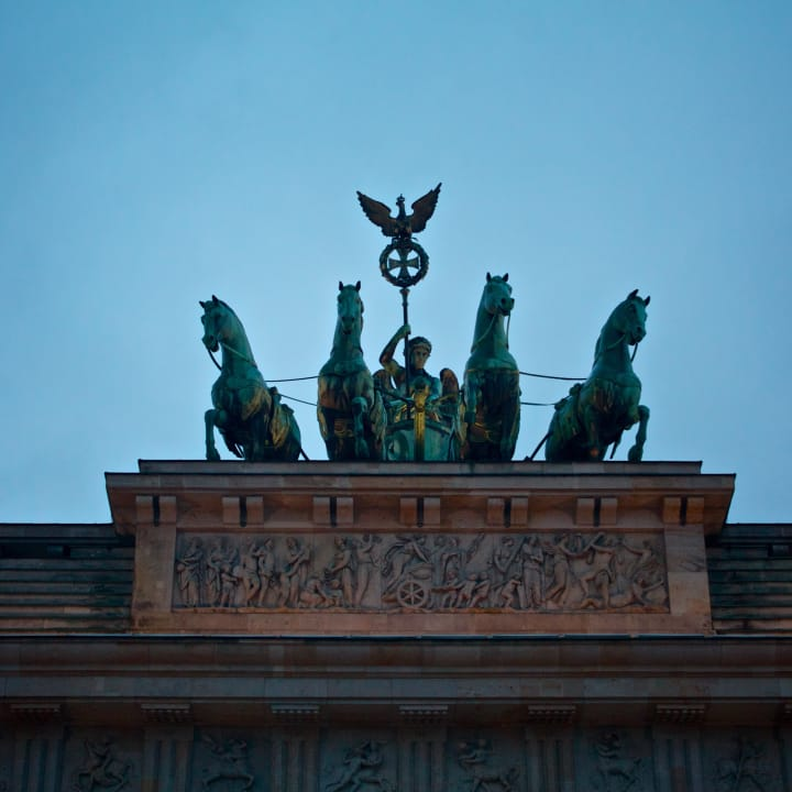 Quadriga atop the Brandenburg Gate.