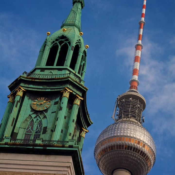 St. Mary's Church and Fernsehturm.