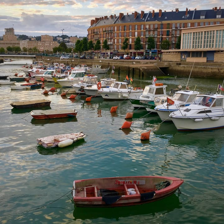 Fishing boats in Quai Notre Dame.