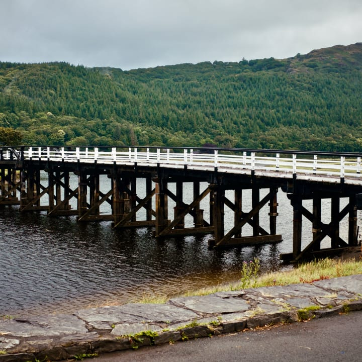 Penmaenpool Toll Bridge.