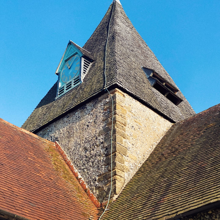 Spire of St. Margaret's church in Ditchling.
