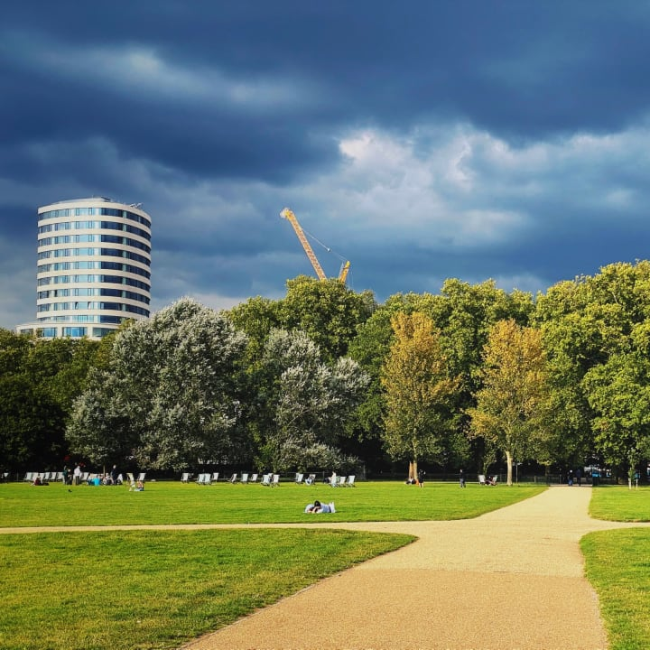 Sky over Hyde Park.