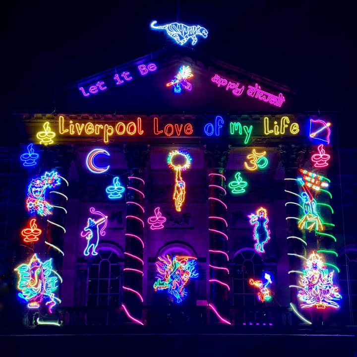 'Liverpool Love Of My Life' illumination.