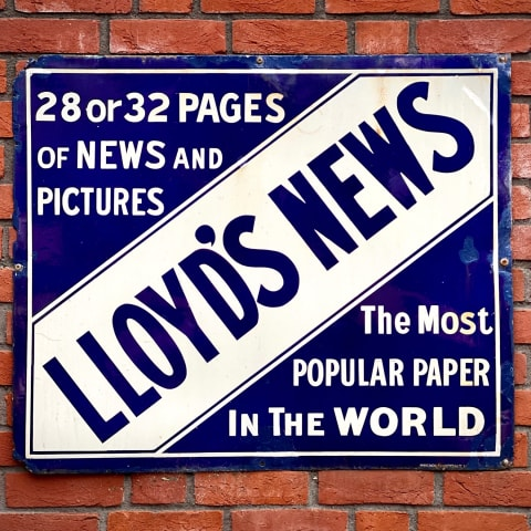 Vintage poster for Lloyd's News (the most popular paper in the world).