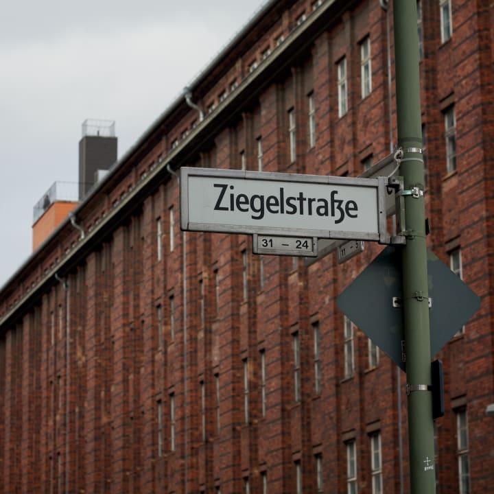 Berlin street sign, Ziegelstraße.