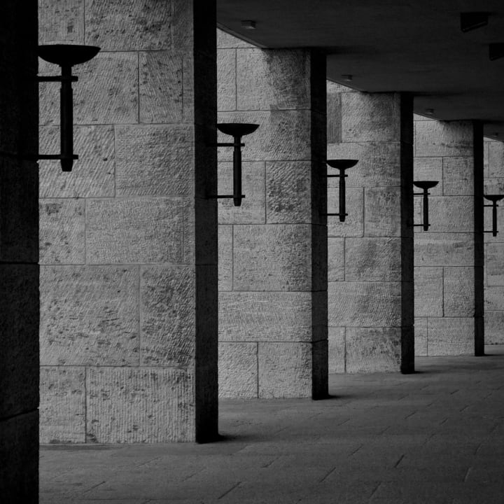 Olympiastadion lighting.