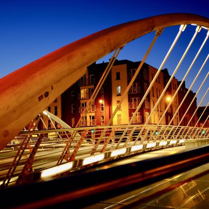 James Joyce Bridge, Dublin.