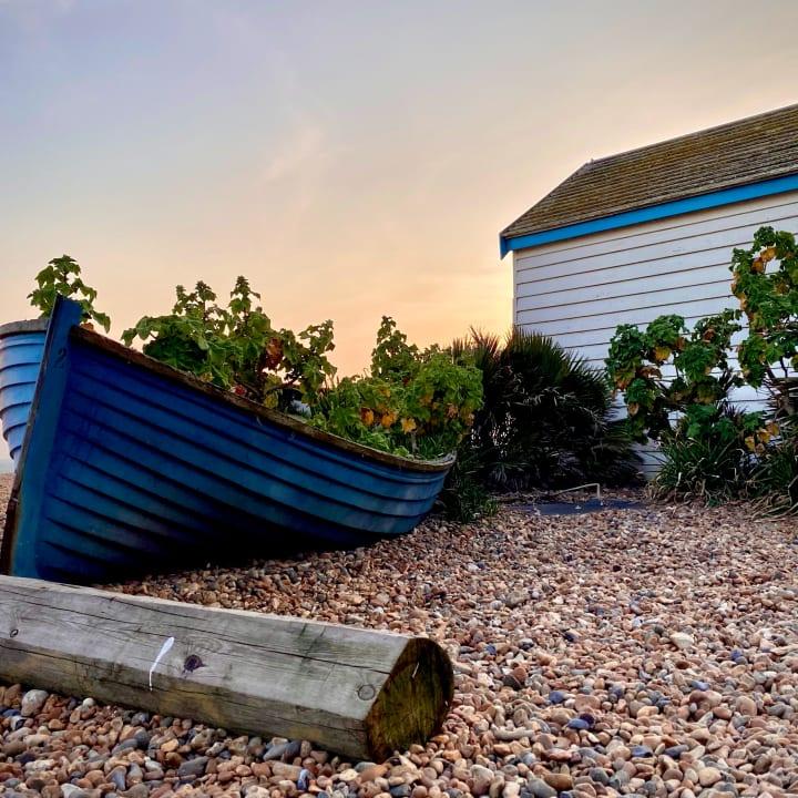 Boat on Brighton beach.