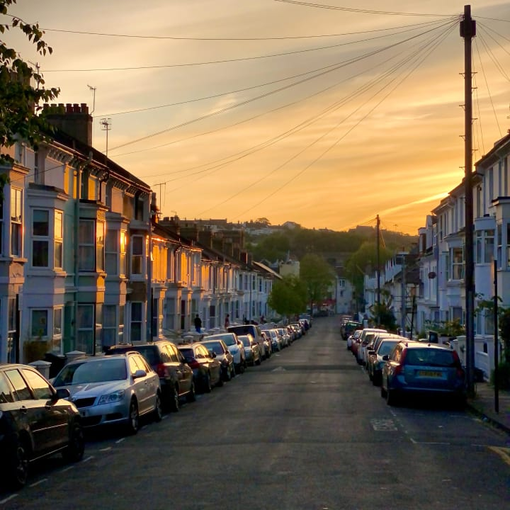 Sunset over Stanley Road.