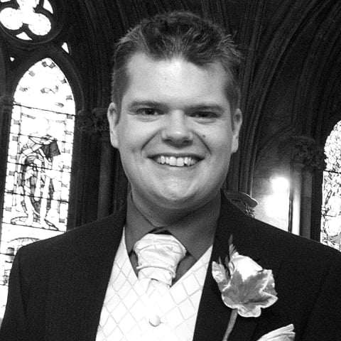 James at his wedding in 2009