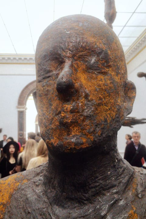 Antony Gormley exhibition at the Royal Academy.