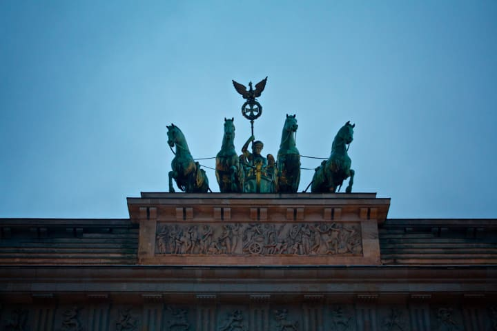 Quadriga atop the Brandenburg Gate