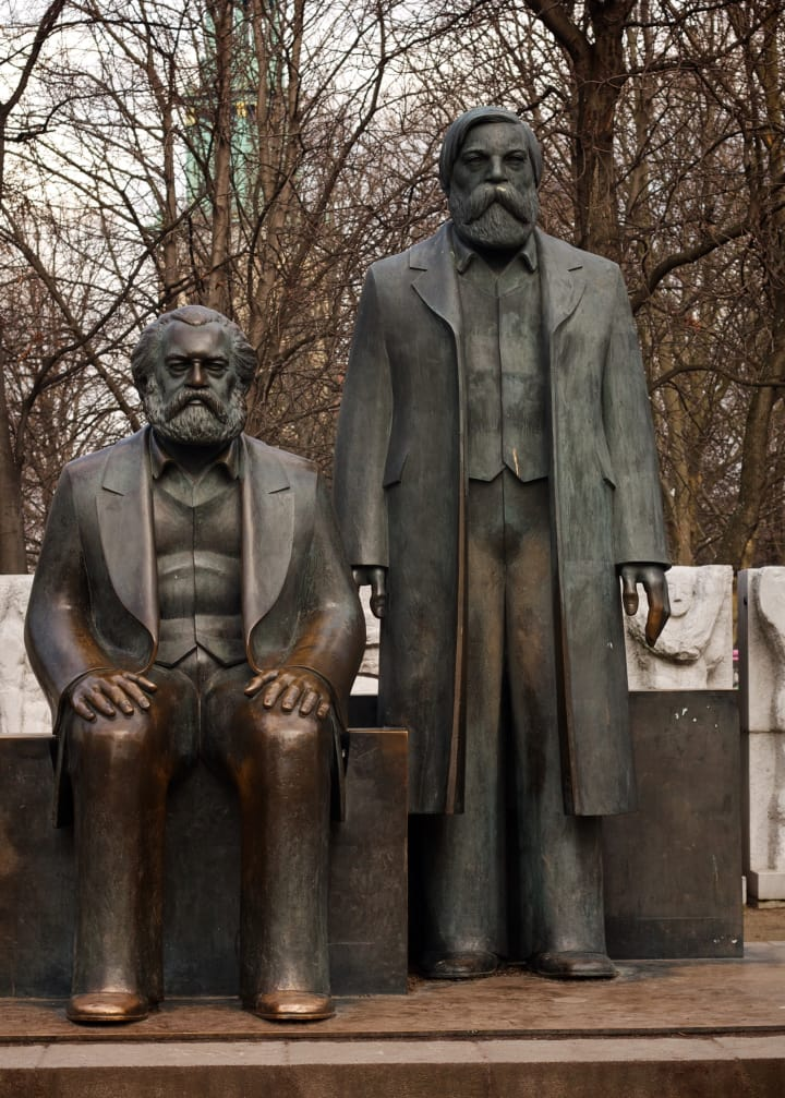 Statue of Karl Marx and Friedrich Engels