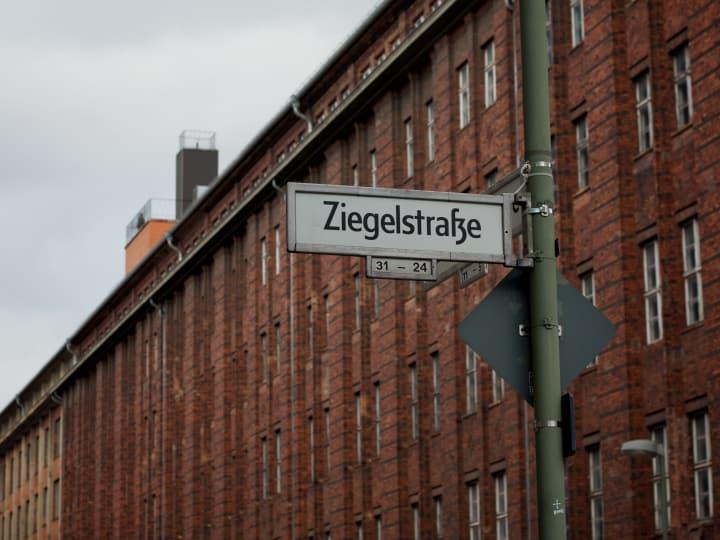 Berlin street sign, Ziegelstraße