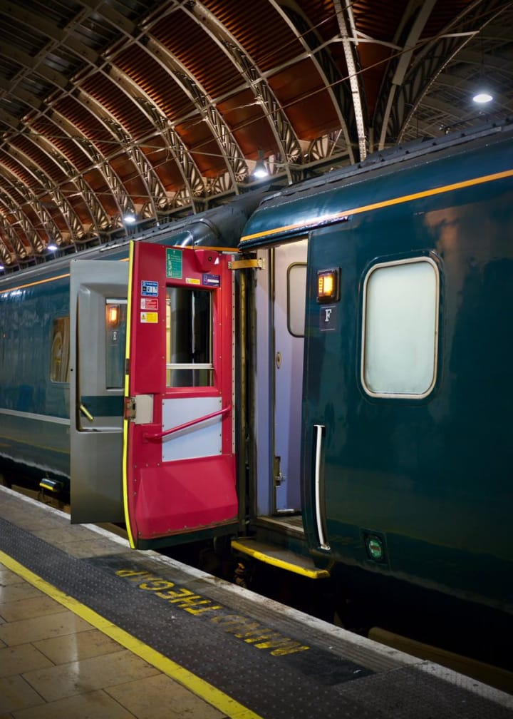 Open door to one of the carriages