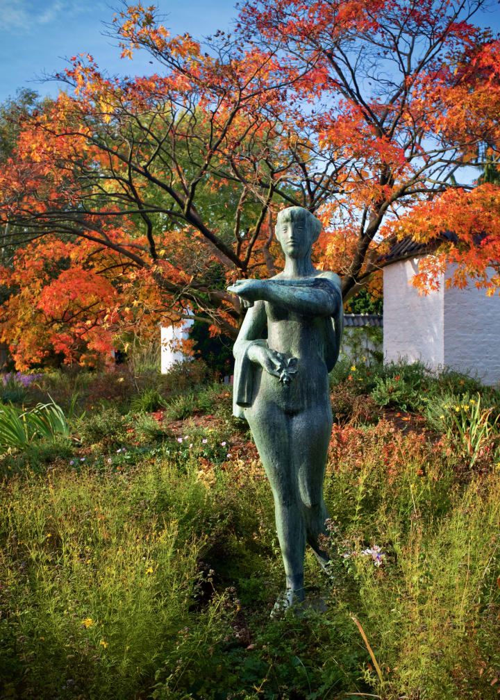 Sculpture in Planten un Blomen.
