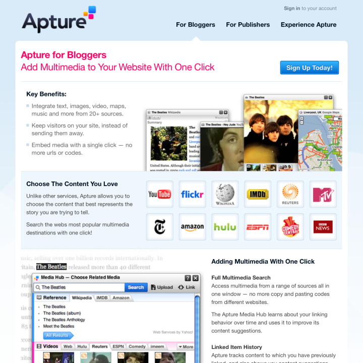 Product marketing page