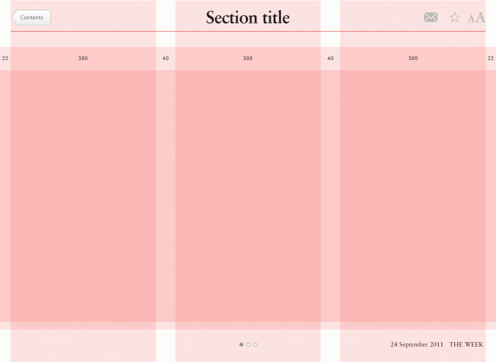Design overlaid with red grid lines