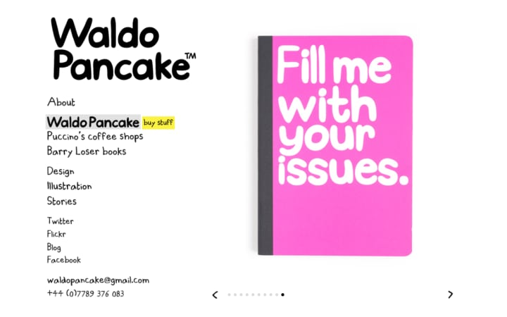 Slideshow of Waldo Pancake merchandise