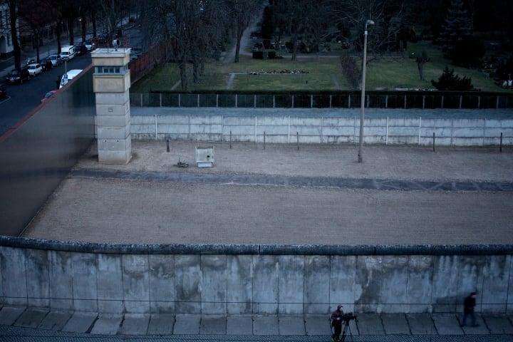 Restored section of Berlin Wall, Bernauer Straße.
