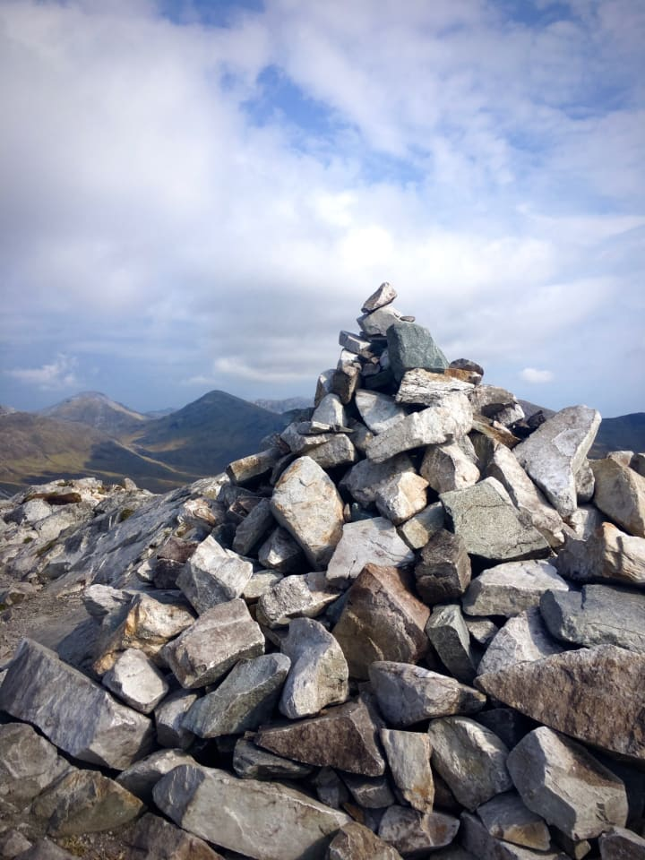 Rock stack on the summit.