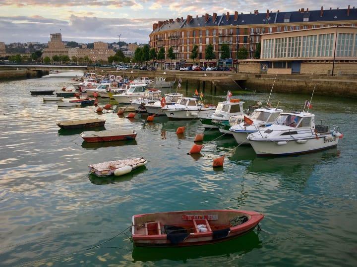 Fishing boats in Quai Notre Dame.