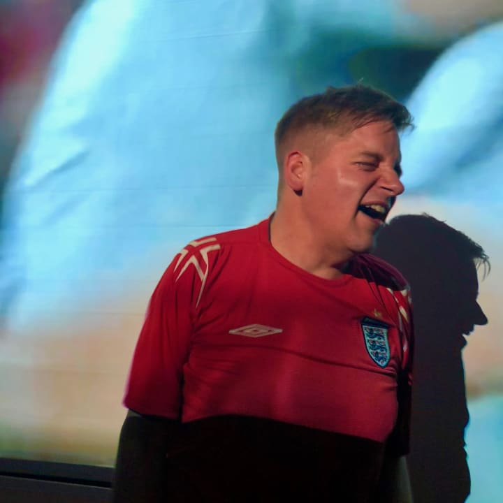 Me celebrating England's win over Colombia 3.