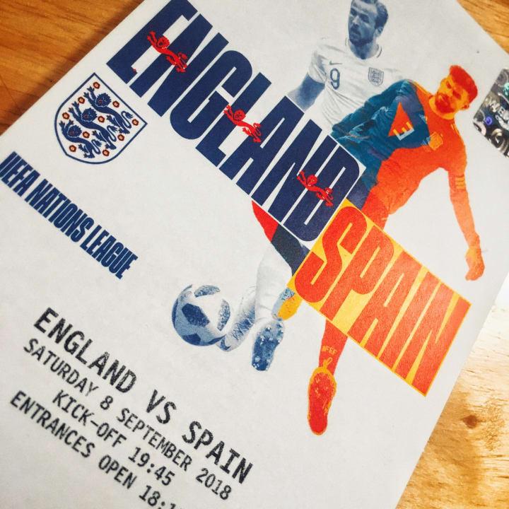 England v Spain ticket.