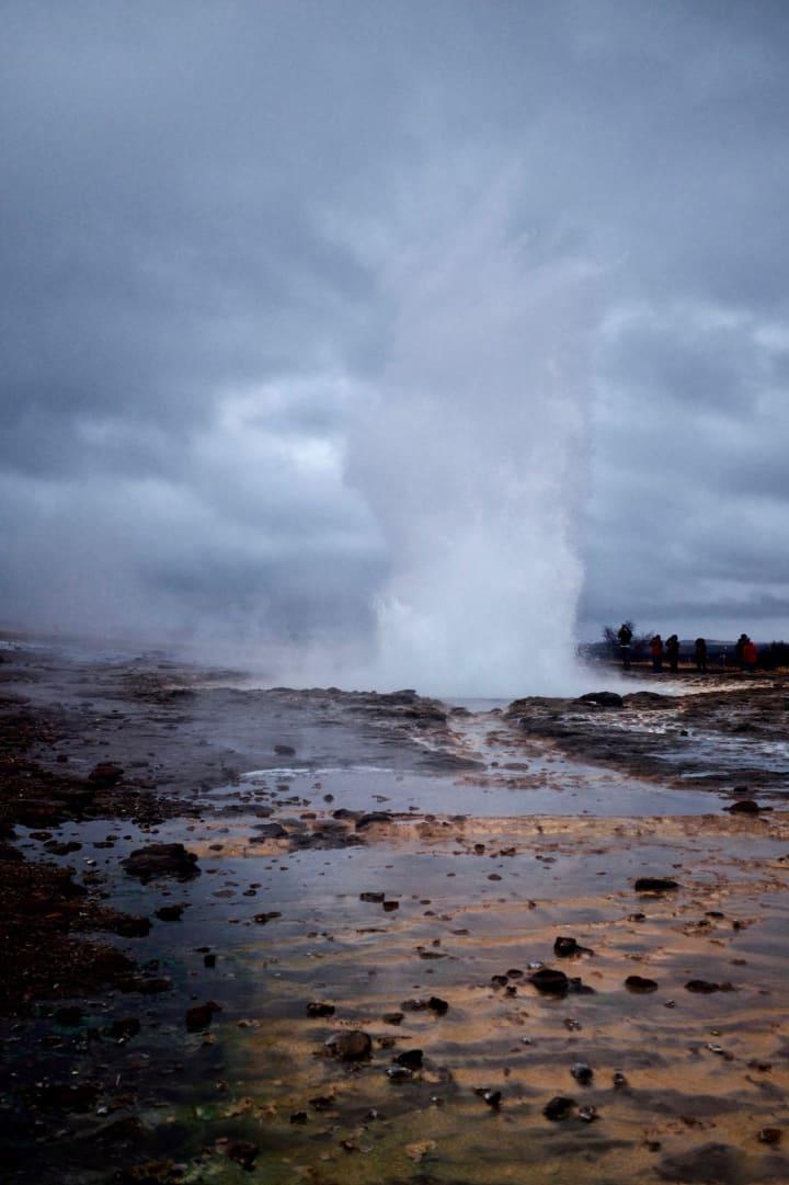 Strokkur Geysir erupting.