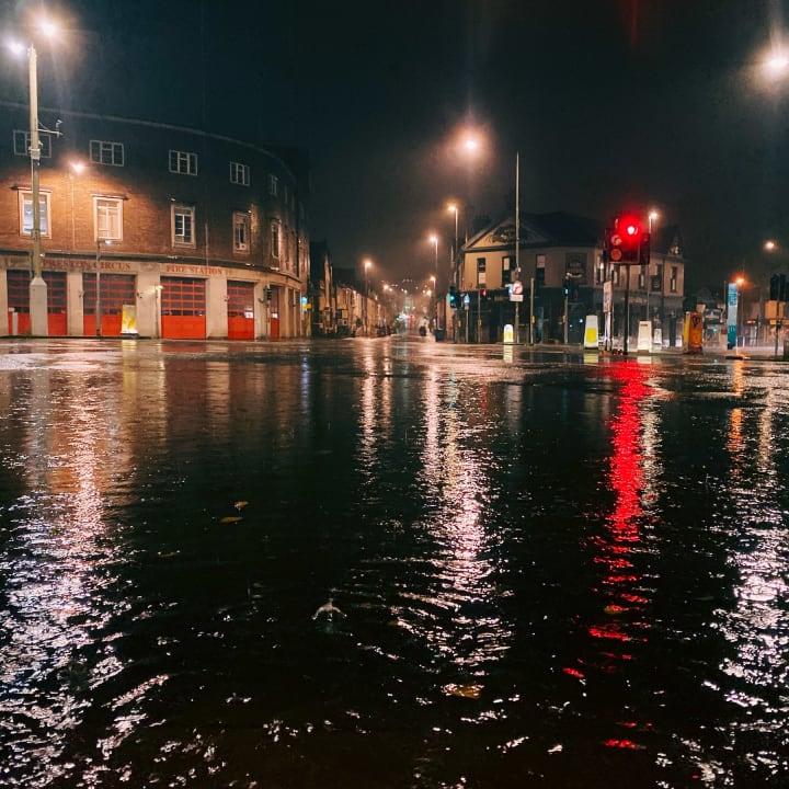 Flooded Preston Circus.