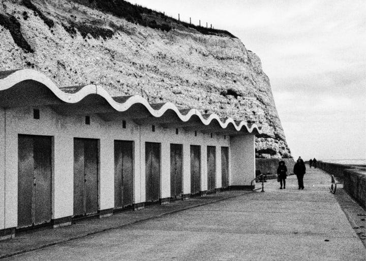 Beach huts near Ovingdean Beach.