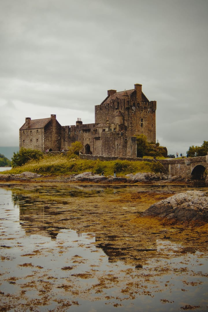 Grey skies over Eilean Donan Castle.