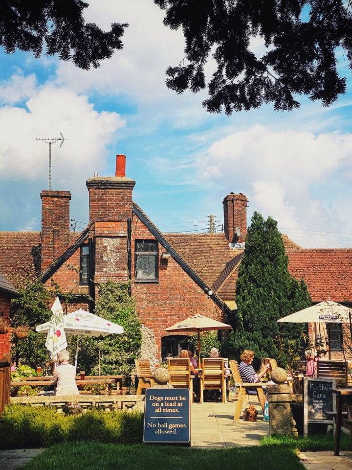 The Kings Head pub garden.