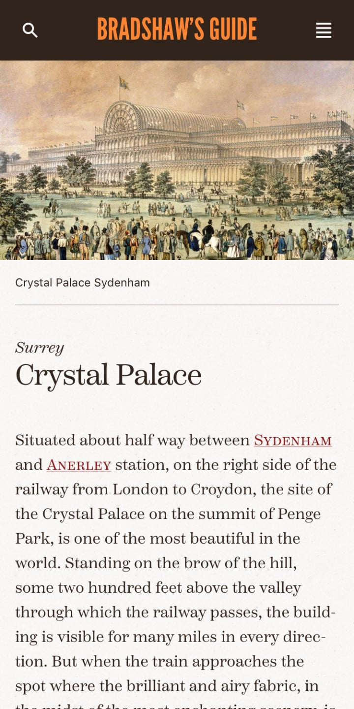 Station page on mobile