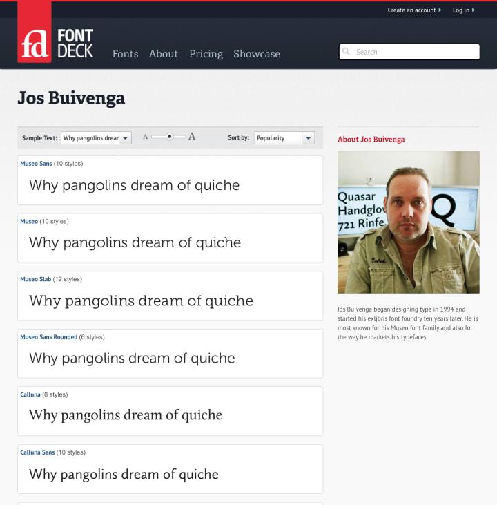 Type designer page