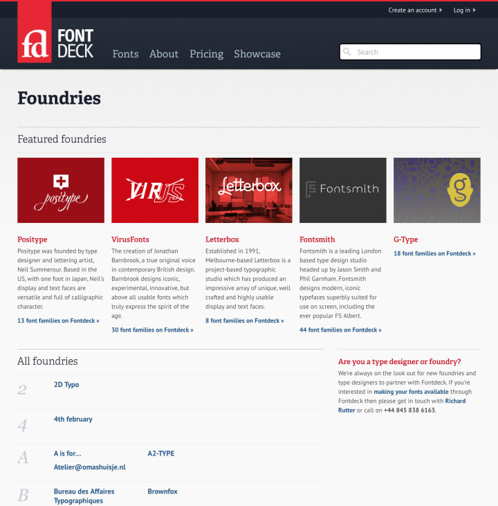 Foundries page