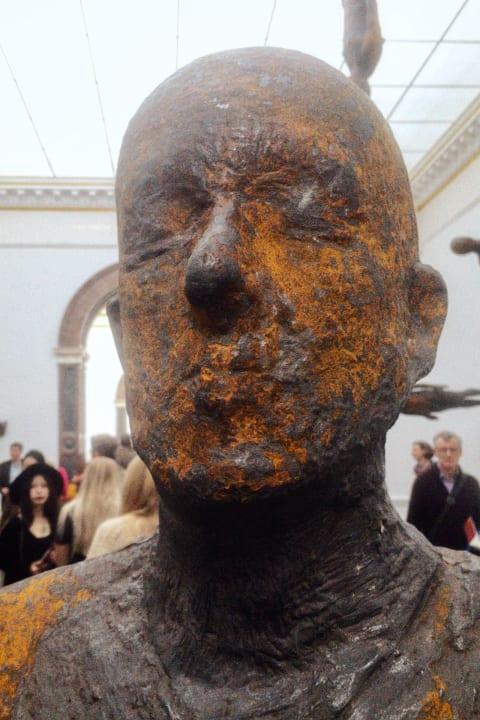 Antony Gormley exhibition at the Royal Academy.