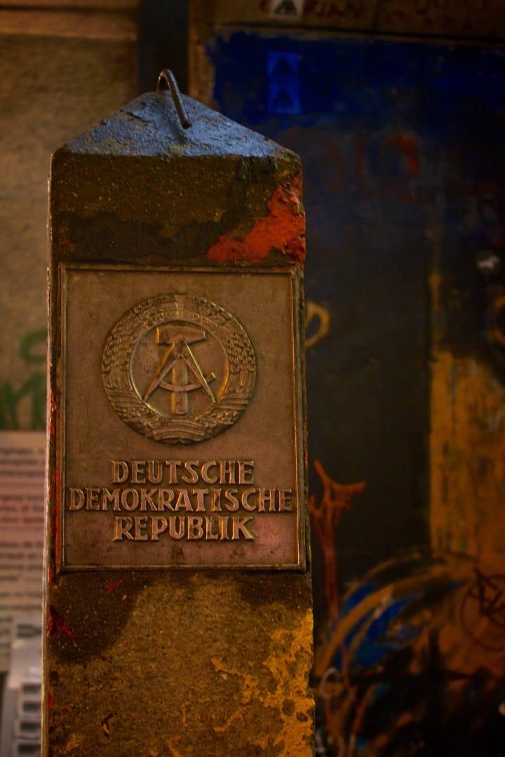 DDR border totem.