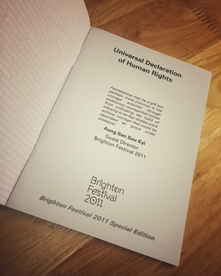 Front cover of Universal Declaration of Human Rights.