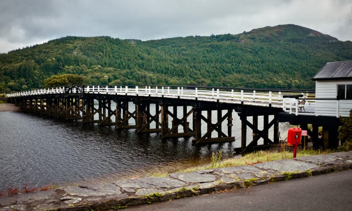 Penmaenpool Toll Bridge.