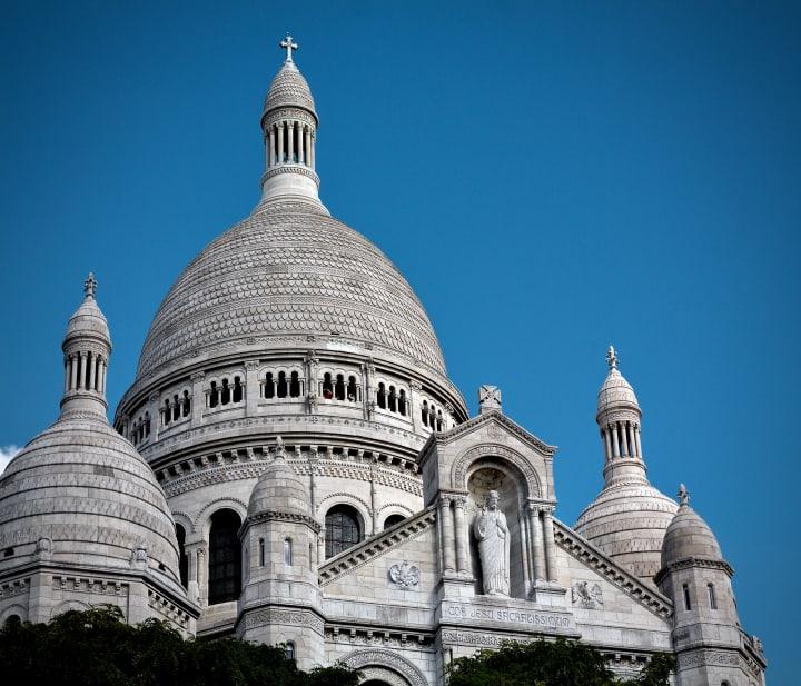 Close up of Sacré-Cœur Basilica.