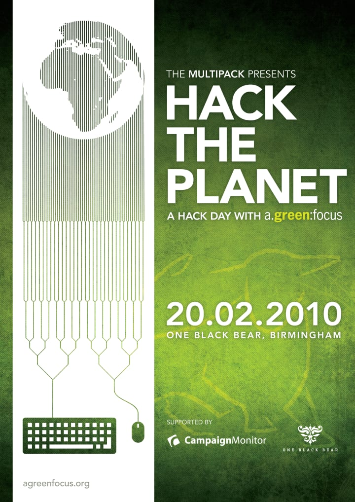 Poster for 'Hack the Planet'.