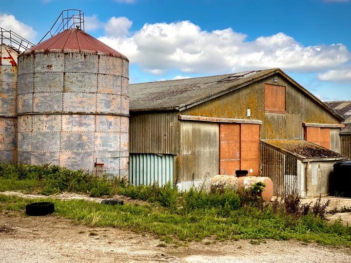 Farm buildings.