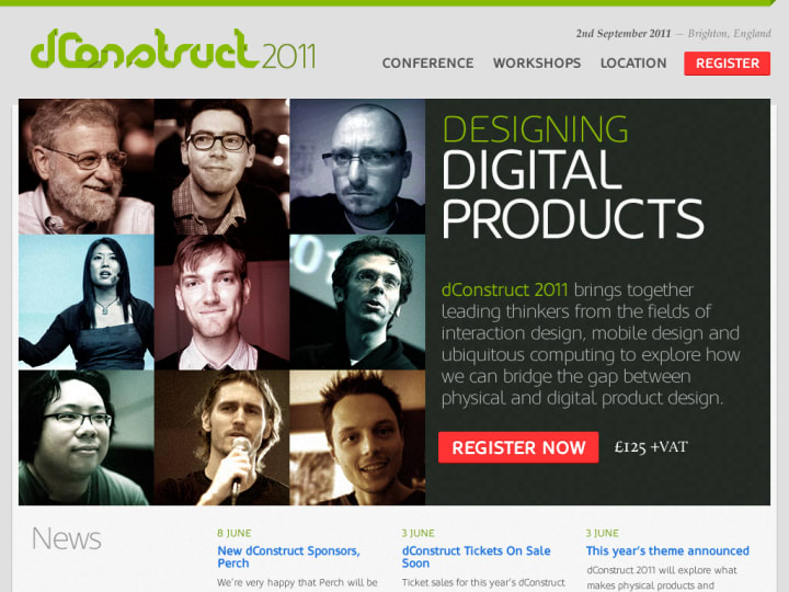 Home page for the 2011 website