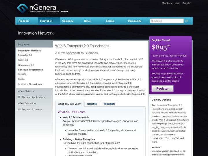 Workshop description page