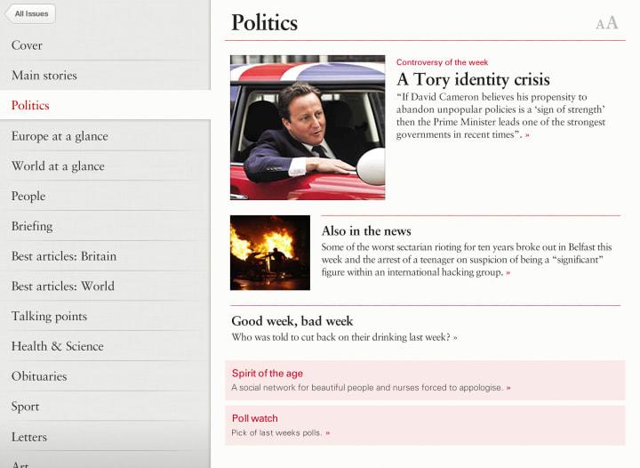 Politics index