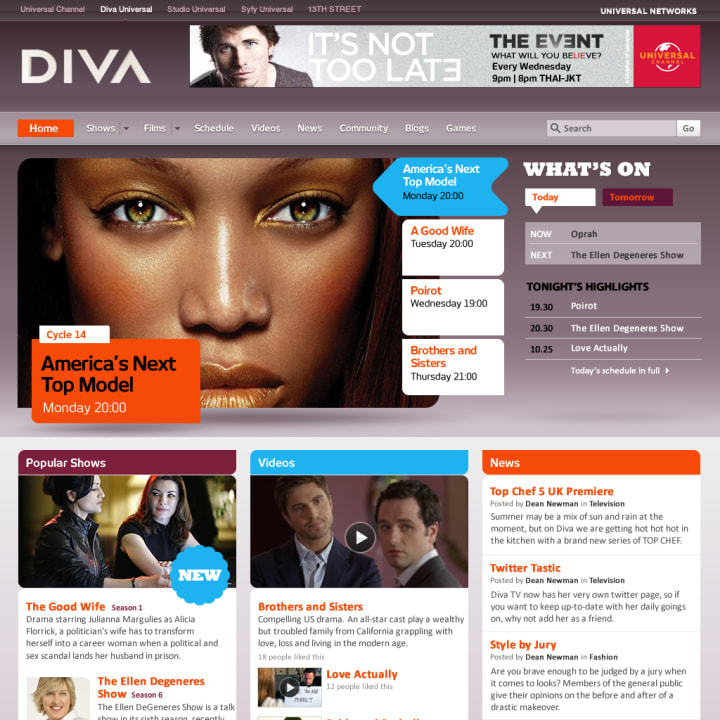 Diva home page