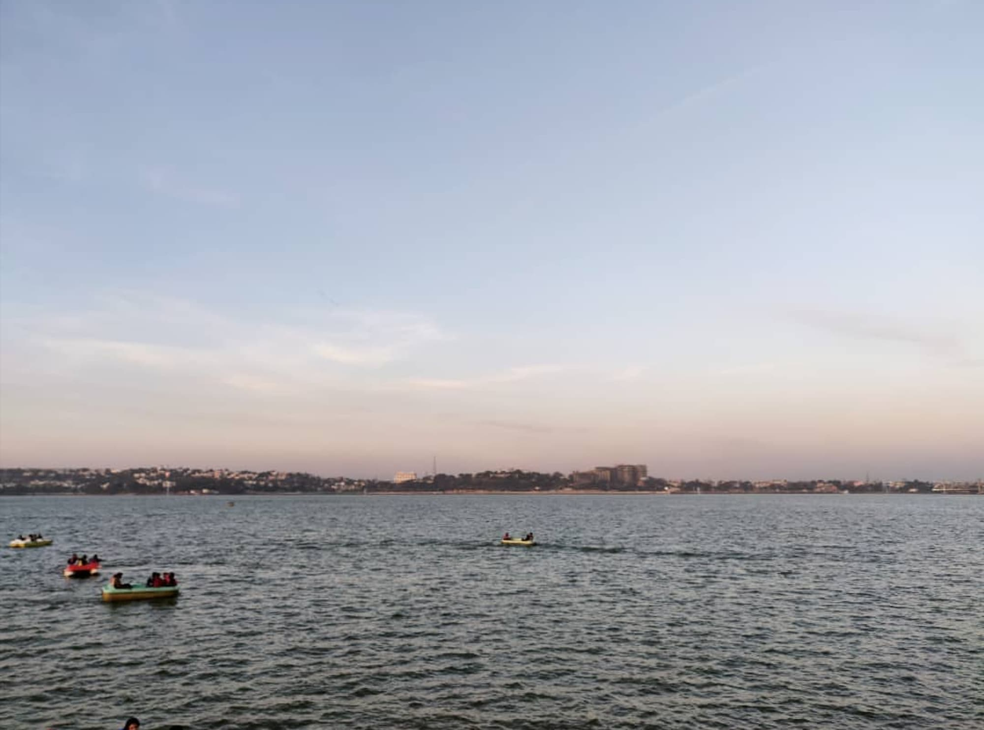 Upper Lake with a skyline of Bhopal city